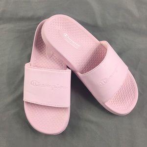 3373ab15dc73d Champion Shoes - 2 pairs lot Champion Slides Sz 7 Pink White (S4)
